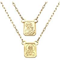 5578059e025 Escapulario Prata Mil Ouro Sagrado Coração Jesus E Nossa Senhora Carmo Ouro