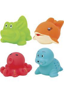Jogo De Brinquedos De Banho Aquático- Vermelho & Verde