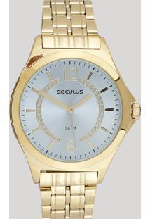 Relógio Analógico Seculus Feminino - 23629Lpsvds1 Dourado - Único