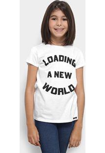 Camiseta Infantil Dimy Candy Dress T-Shirt New World Feminina - Feminino-Branco
