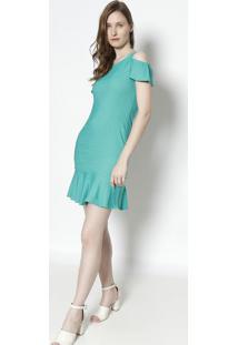 Vestido Com Ombros Vazados - Verdemoiselle