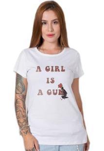 Camiseta Stoned Gun Girl Feminina - Feminino