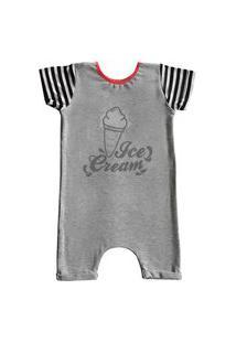 Pijama Curto Comfy Ice Cream