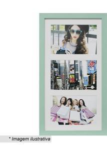 Painel Insta Para 3 Fotos- Verde Claro & Branco- 38Xkapos