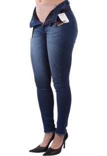 Calça Dioxes Jeans Com Cinta Modeladora Feminina - Feminino