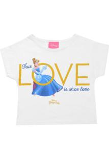 Camiseta Kamylus Menina Cinderela Branca