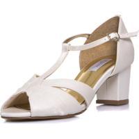 0f63a3a81 Dafiti. Sandália Durval Calçados Noiva Vintage Salto Baixo Confortável ...