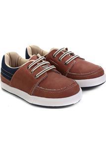 Sapato Infantil Pimpolho Básico Masculino - Masculino-Marrom+Azul