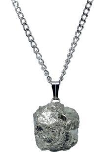 Colar Nordmann Co. Pedra Pirita Grande Dourado