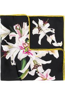 Dolce & Gabbana Lenço Com Estampa Lily - Preto