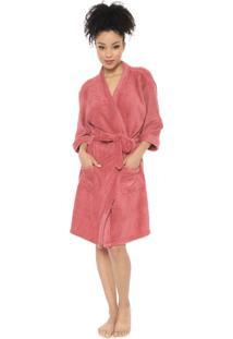 Roupão Porto Franco Kimono Rosa