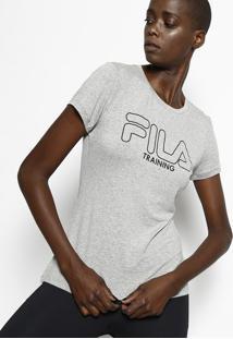 Camiseta Filaâ® Training - Cinza & Pretafila