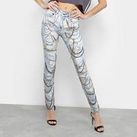 f983ab3b6 Calça Jeans Skinny Lança Perfume Com Correntes Feminina - Feminino