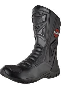 Bota Motociclista Slim Soft Bell-Boots Cano Alto - 4000 - Preta