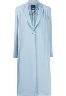 Pinko Casaco Abotoamento Simples Com Fenda Lateral - Azul