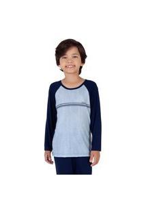 Pijama Duplo Azul Infantil Menino - Toque Kids