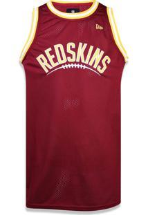 Regata New Era Basica Washington Redskins Vermelho Escuro 30d70ebe8a1