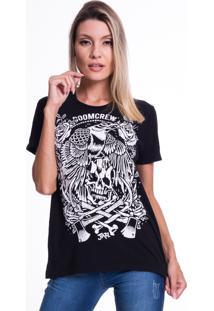 Camiseta Jazz Brasil Doomcrew Preta - Preto - Feminino - Algodã£O - Dafiti