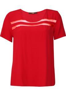 Camiseta Forum Recortes Vermelha