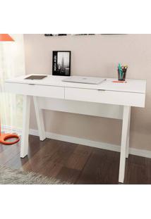 Mesa Para Computador Com 2 Gavetas Me4128 - Tecno Mobili - Branco