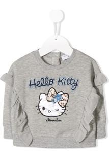 Monnalisa Blusa De Moletom Hello Kitty - Cinza