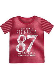 febd752ad3d Camiseta Bebê Menino Em Malha De Algodão Estampada Puc