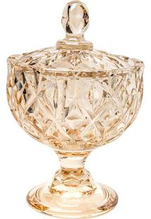 Bomboniere Crown Em Relevo & Pã©S De Apoio- Cristal & ÂMbrojemac