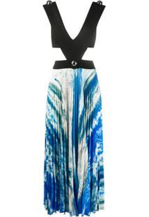 Christopher Kane Vestido Com Recorte Vazado - Azul