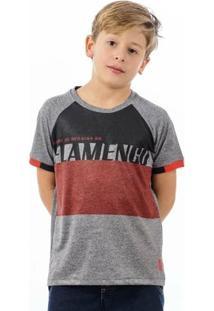 Camisa Flamengo Infantil Team Raglan - Masculino