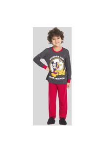 Pijama Longo Infantil Inverno Mickey E Pluto 27030010