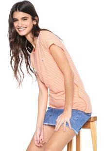 Camiseta Coca-Cola Jeans Listras Laranja