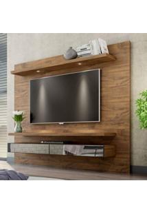 Painel Para Tv Até 65 Polegadas Com Led E Espelho Tamburato Tb108E Dalla Costa Nobre Fosco