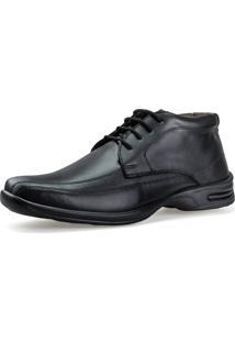 Sapato Botinha Casual Neway Antistress Conforto Preto - Preto - Masculino - Dafiti