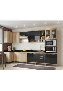Cozinha Completa Laciara 15 Pt 3 Gv Argila E Preto