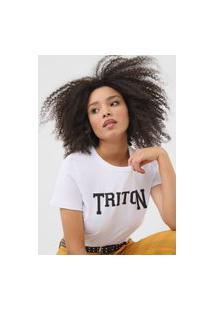 Camiseta Triton Glitter Branca