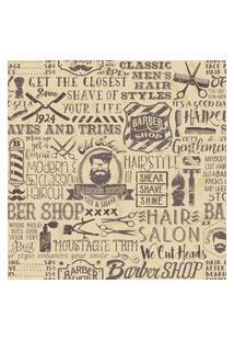 Papel De Parede Barbearia Vintage Retro 57X270Cm