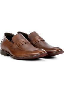 Sapato Social Couro Ferricelli Prius - Masculino-Marrom Claro
