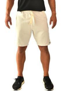 Bermuda Moletom Brohood Amarelo Masculino - Masculino-Off White