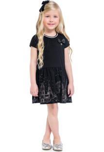 Vestido Infantil Preto
