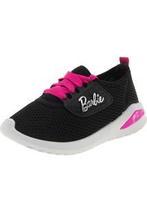 990dd5070 Tênis Infantil Feminino Barbie Glamour Preto Grendene Kids - 21494
