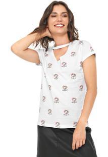 Camiseta Fiveblu Choker Magical Branca