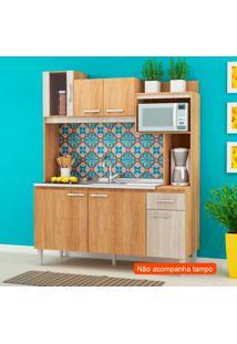 Cozinha Compacta Angel 6 Pt 1 Gv Carvalho E Bege