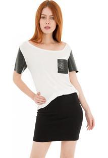 Camiseta Gola Assimétrica 41Onze - Branca - Tricae