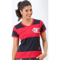 7329cc46b2e03 Camisa Flamengo Feminina Retrô Baby Look 1981 Zico Libertadores Feminina -  Feminino