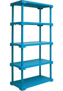 Estante Cube Com 5 Prateleiras Azul