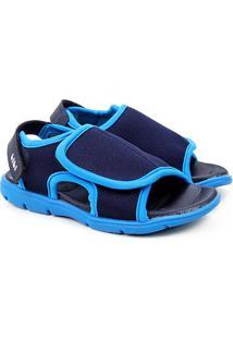 Sandália Infantil Bibi Basic Sandals Mini Masculina - Masculino-Marinho+Azul