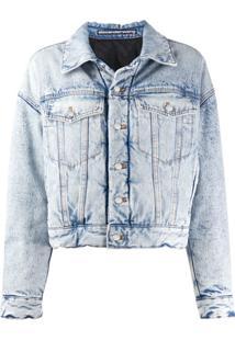 Alexander Wang Jaqueta Jeans Com Lavagem - Azul