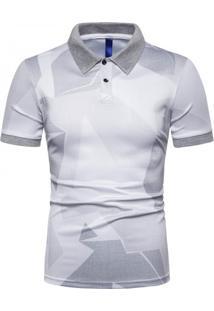 Camisa Polo Estampada Future - Cinza