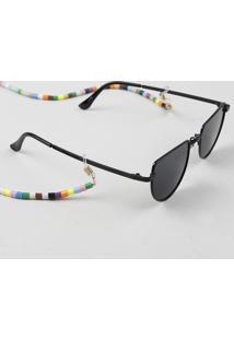 Corrente Para Óculos Feminina De Miçanga Dourado
