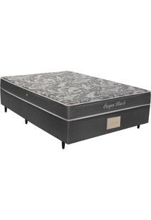 Cama Box Casal Conjugada Herval Oregon Black, 56X138X188 Cm, Molas Bonnel